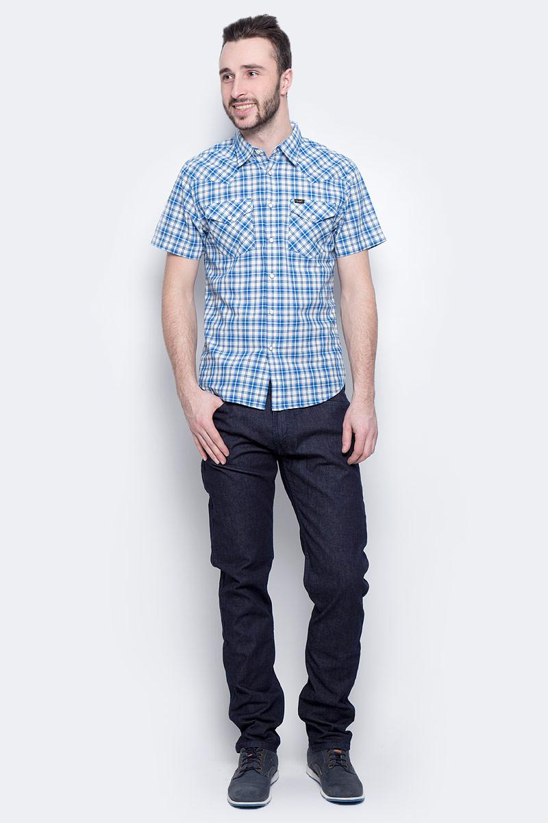 Джинсы мужские Lee Luke, цвет: темно-синий. L719JJ36. Размер 33-34 (48/50-34)L719JJ36Мужские джинсы Lee Luke выполнены из высококачественного эластичного хлопка. Джинсы-слим стандартной посадки застегиваются на пуговицу в поясе и ширинку на застежке-молнии, дополнены шлевками для ремня. Джинсы имеют классический пятикарманный крой: спереди модель дополнена двумя втачными карманами и одним маленьким накладным кармашком, а сзади - двумя накладными карманами.