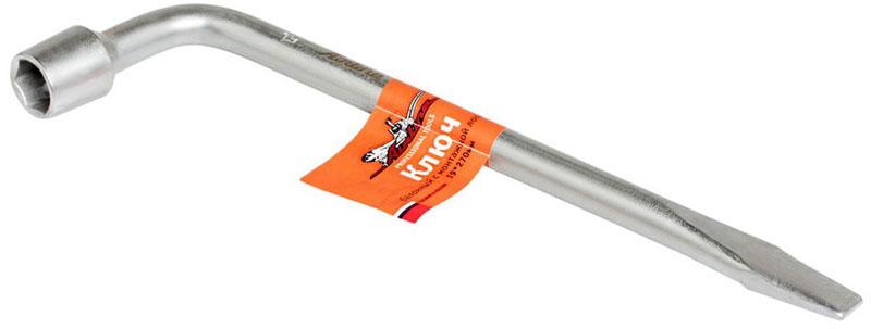 Ключ баллонный Airline, Г-образный, с монтажной лопаткой, 19 мм х 27 смAK-B-06Ключ балонный Airline имеет Г-образную форму. Изделиевыполнено из инструментальной стали, обеспечиваетдолгосрочное использование изделия. Ключ оснащенусиленной конструкцией, монтажной лопаткой и применяетсядля установки и демонтажа колес. Торцевая головка: 19 мм.Длина ключа: 27 см.
