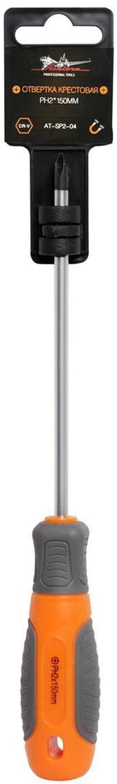 Отвертка крестовая Airline, с эргономичной рукояткой, PH2 х 150 ммAT-SP2-04Отвертка крестовая Airline предназначена для монтажа/демонтажа резьбовых соединений с применением значительных усилий. Лезвие отвертки изготовлено из хром-ванадиевой стали, жало подвержено индукционной закалке и фосфатировано. Лезвие усиленных отверток шестигранной формы, изготовлено из особо прочной стали S2. Сочетание твердых и мягких элементов рукоятки оптимально распределяет усилие, прилагаемое к инструменту, и предотвращает проскальзывание. Отвертка удобно подвешивается за специальное отверстие.Размер отвертки: PH2 х 150 мм.