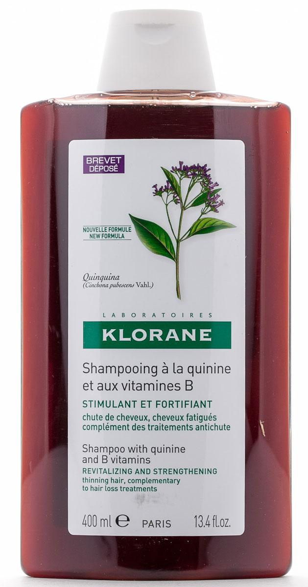 Klorane Шампунь Thinning Hair с экстрактом Хинина укрепляющий 400 мл klorane бальзам укрепляющий с экстрактом хинина klorane conditioners with quinine and b vitamins c02895 150 мл