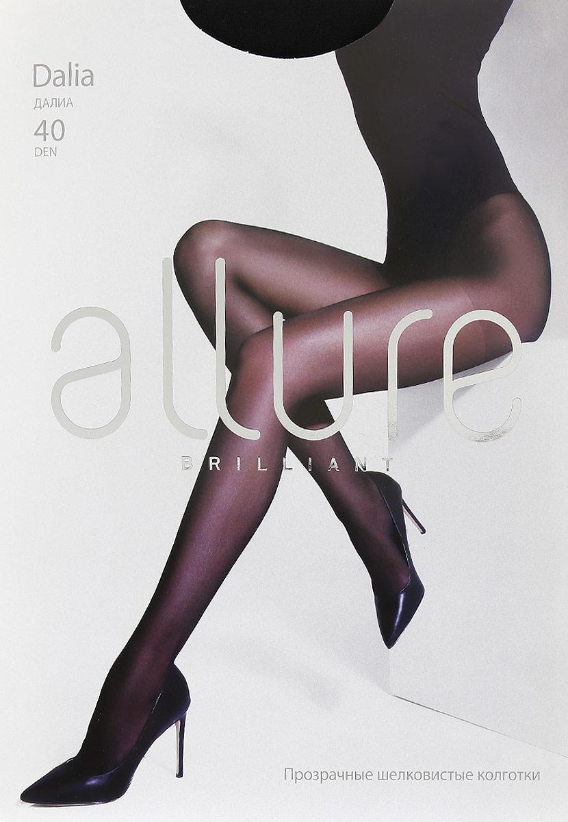 Колготки Allure Dalia 40, цвет: Nero (черный). Размер 4Dalia 40Шелковистые прозрачные колготки. Эффект достигается за счет оплетенной эластановой нити в составе изделия. Усиленная верхняя часть, плоские швы, укрепленный носок и хлопковая ластовица.