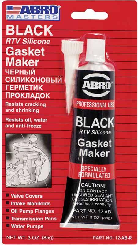 Герметик прокладок Abro Masters, цвет: черный, 85 г12-AB-CHМногоцелевые герметики прокладок Blue, Red, Clear, Black предназначены для ремонта или замены почти всех встречающихся в автомобиле прокладок.Герметик ABRO принимает любую форму и успешно выдерживает сжатие, растяжение и сдвиг. Совершенно не разрушается под действием автомобильных масел, воды и антифриза. Также герметик ABRO обладает высокой стойкостью к бензину и тормозной жидкости. Более мягкий герметик прокладок Blue (синий), также как Clear и Black (прозрачный, черный), предназначен для применения при температурах до 260°С, в то время как герметик прокладок Red (красного цвета) разработан для более высоких температур до 343°С.