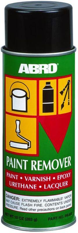Смывка краски Abro, аэрозоль, 283 гPR-600Смывка краски ABRO - быстродействующий, эффективный способ удалять краски, лаки, а также эмали, шеллак, акриловый полиуритан и нитроцеллюлозу практически со всех видов поверхностей (металл, дерево, бетон), за исключением пластмасс. Если вы хотите использовать cмывку краски для пластмассовой поверхности рекомендуется сначала проверить стойкость обрабатываемой поверхности на небольшом участке.