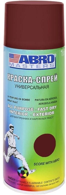 Краска-спрей Abro Masters, цвет: коричневый грунтSP-010-AMКраска-спрей применяется для окраски металлических и деревянных поверхностей различных предметов. Используется как для внутренних (домашних), так и наружных работ. После высыхания не токсична.