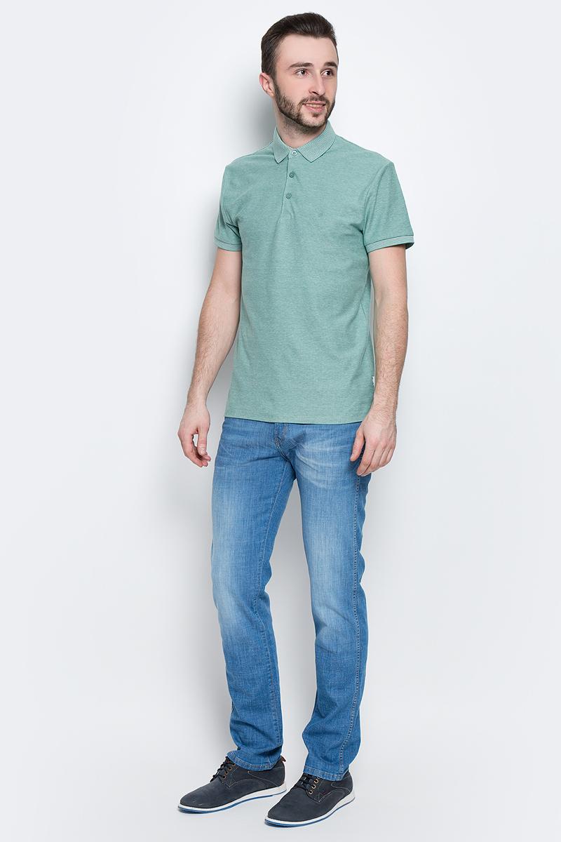 Поло мужское Wrangler Refined Polo, цвет: зеленый, белый. W7A71KIS4. Размер L (50) контейнер пищевой вакуумный bekker koch прямоугольный 1 1 л page 4