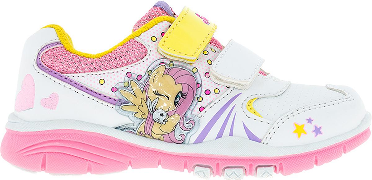 Кроссовки для девочки Kakadu My Little Pony, цвет: белый, розовый, желтый. 6737C. Размер 256737CСтильные кроссовки My Little Pony от Kakadu - отличный выбор для вашей малышки на каждый день. Верх модели выполнен из синтетической кожи и дышащего текстиля. Кроссовки оформлены принтом с изображением персонажей мультсериала My Little Pony. Ремешки на застежках-липучках обеспечивают надежную фиксацию обуви на ноге. Подкладка из хлопкового материала создает комфорт при носке. Съемная стелька удобна в эксплуатации и позволяет быстро просушивать обувь. Подошва выполнена из износостойкой резины.Рифление на подошве обеспечивает отличное сцепление с любой поверхностью.Модные и комфортные кроссовки - необходимая вещь в гардеробе каждого ребенка.