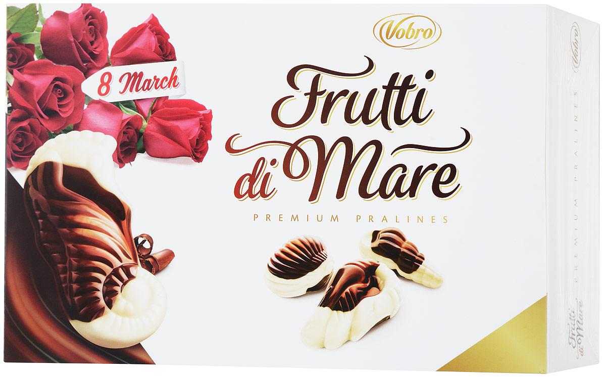Vobro Frutti di Mare набор шоколадных конфет в виде морских ракушек, 350 г cuor di mare cоль морская пищевая йодированная мелкого помола 500 г
