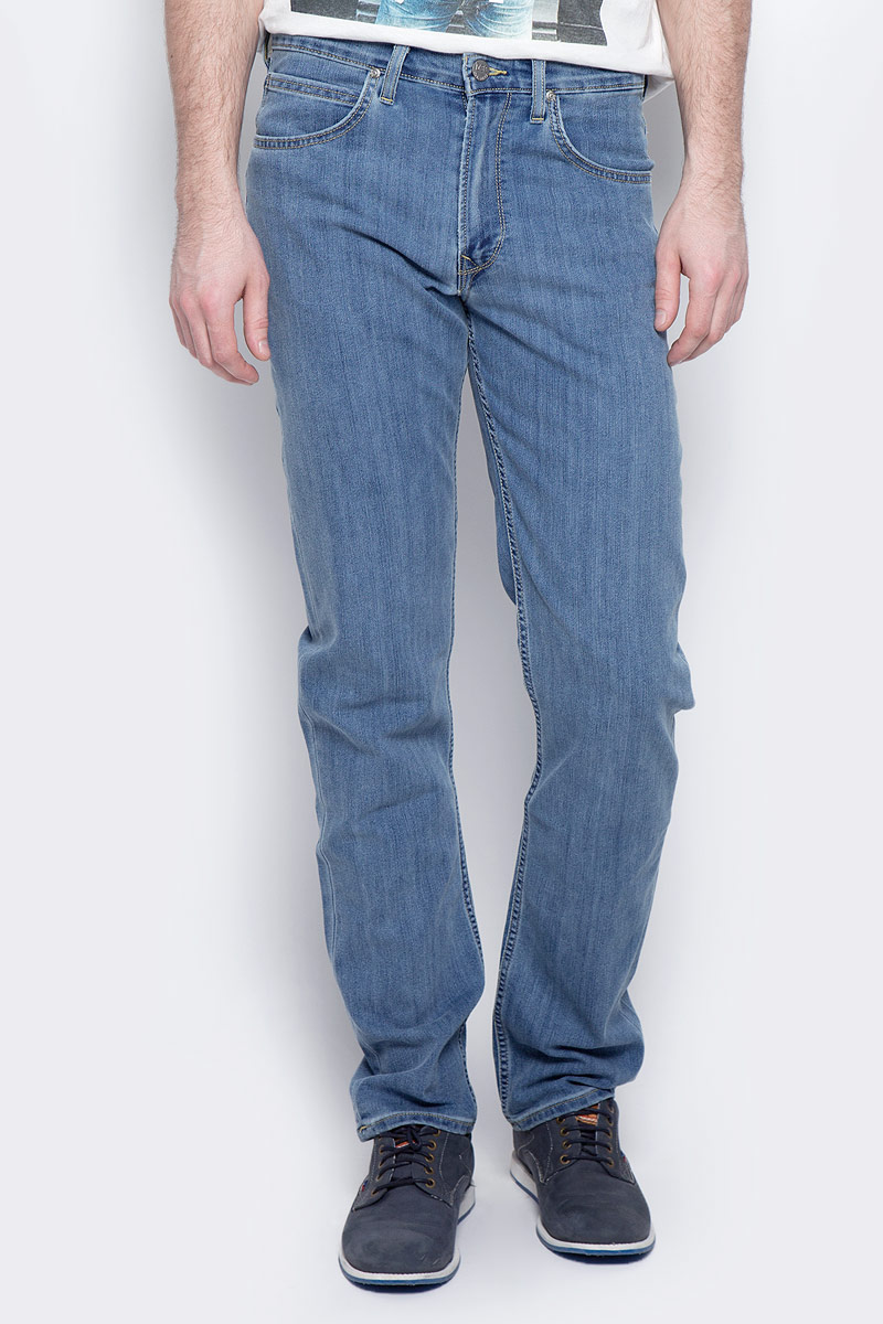 Купить Джинсы мужские Lee Brooklyn Straight, цвет: синий. L452ACHN. Размер 31-32 (46/48-32)