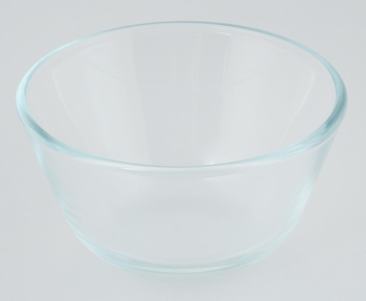 Миска термостойкая Helper, 400 мл4516Миска Helper изготовлена из термостойкого боросиликатного стекла, обладает устойчивостью к химическим и ударным воздействиям, высокой термической стойкостью, выдерживает перепад температур до 220°С. Такая посуда безопасна с точки зрения экологии. Она не вступает в реакцию с готовящейся пищей, не боится кислот и солей, не ржавеет, на ней не появляется накипь, она не впитывает запахи и жир. Прозрачность и абсолютная экологичность посуды из термостойкого стекла изменит приготовление даже самых изысканных блюд, а простота ухода, красота и лаконичность форм сделает ее прекрасным подарком. Стеклянная огнеупорная посуда идеальна для приготовления блюд в духовке, микроволновой печи, а также для хранения продуктов в холодильнике и морозильной камере. Можно мыть в посудомоечной машине. Диаметр миски (по верхнему краю): 12 см. Высота миски: 7 см.