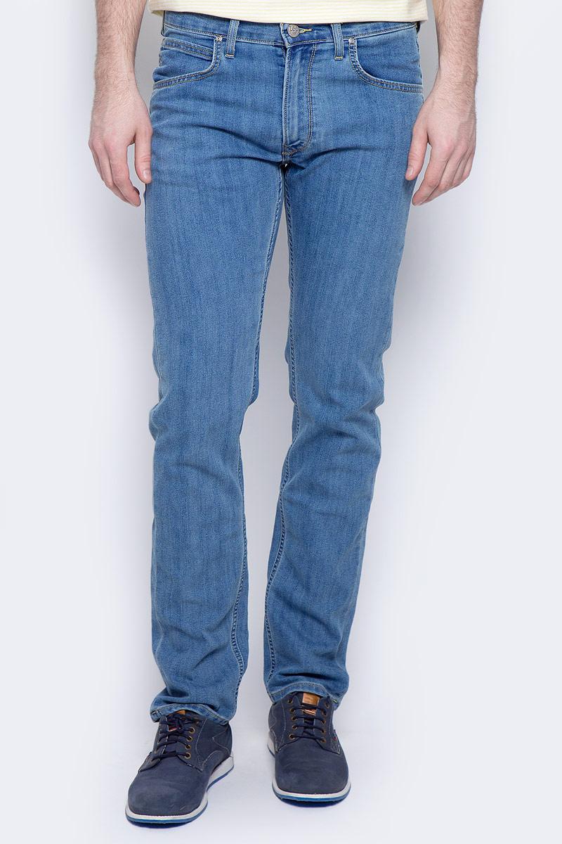 Джинсы мужские Lee Daren Zip Fly, цвет: синий. L707ACHN. Размер 33-34 (48/50-34) zip fly ripped denim cropped pants for men