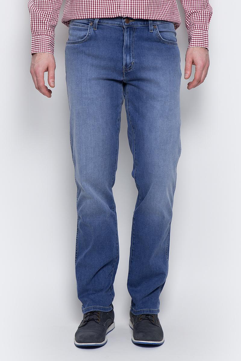 Купить Джинсы мужские Wrangler Texas, цвет: синий. W121MU91P. Размер 31-32 (46/48-32)