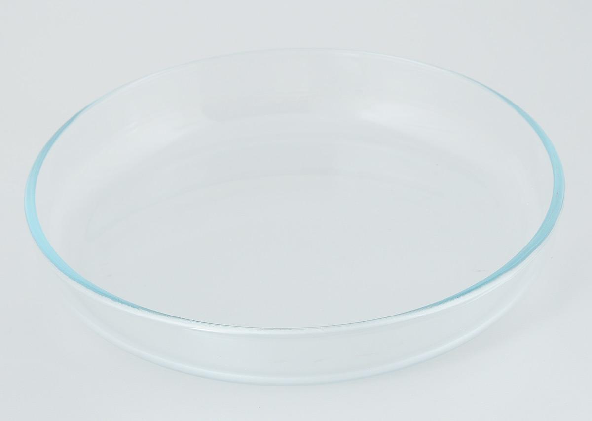 Лоток для запекания Helper, диаметр 26 см4540Лоток для запекания Helper изготовлен из термостойкого боросиликатного стекла, обладает устойчивостью к химическим и ударным воздействиям, высокой термической стойкостью, выдерживает перепад температур до 220°С. Такая посуда безопасна с точки зрения экологии. Она не вступает в реакцию с готовящейся пищей, не боится кислот и солей, не ржавеет, на ней не появляется накипь, она не впитывает запахи и жир.Прозрачность и абсолютная экологичность посуды из термостойкого стекла изменит приготовление даже самых изысканных блюд, а простота ухода, красота и лаконичность форм сделает ее прекрасным подарком. Стеклянная огнеупорная посуда идеальна для приготовления блюд в духовке, микроволновой печи, а также для хранения продуктов в холодильнике и морозильной камере. Можно мыть в посудомоечной машине. Диаметр лотка: 26 см. Высота стенки: 4,5 см.