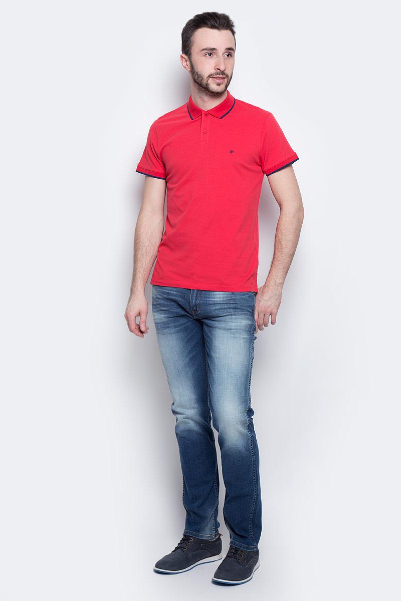 Поло мужское Wrangler Pique, цвет: красный, синий. W7862KW57. Размер M (48) 7862 elefantino