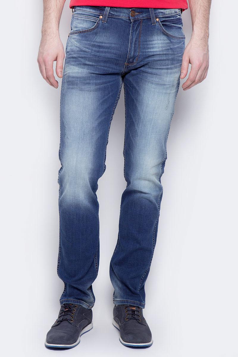 Купить Джинсы мужские Wrangler Greensboro, цвет: синий. W15QNJ87P. Размер 35-34 (50/52-34)