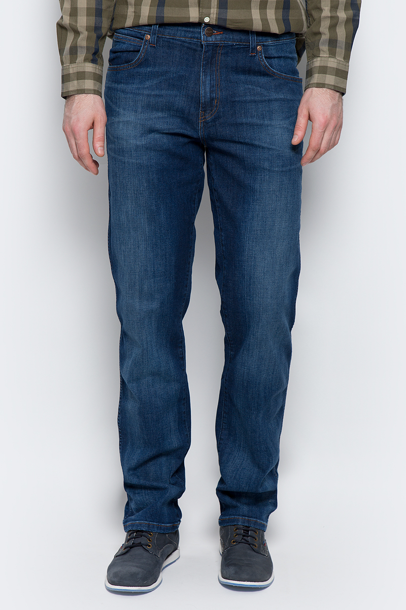 Купить Джинсы мужские Wrangler Texas, цвет: синий. W1219187Z. Размер 33-34 (48/50-34)