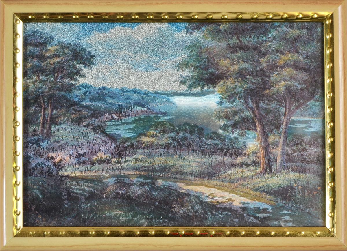 Пейзаж. Картина миниатюра с голографическим эффектом, 2000-е гг.