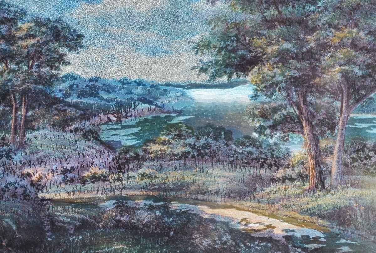 Пейзаж.  Картина миниатюра с голографическим эффектом, 2000-е гг.   Размер 14,5 х 10,5 см. Картина миниатюра с голографическим эффектом...
