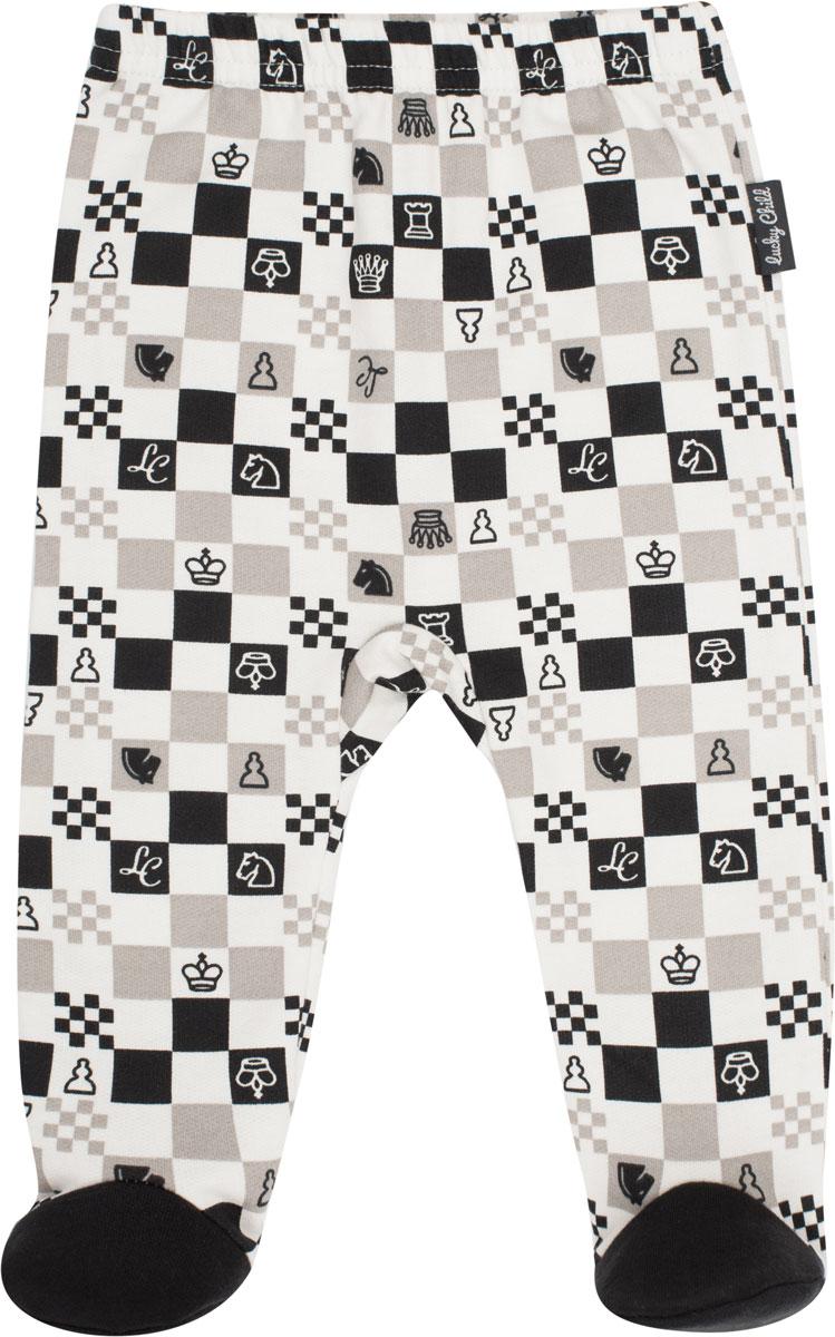 Ползунки Lucky Child Шахматный турнир, цвет: молочный, темно-серый, бежевый. 29-4ф. Размер 80/86