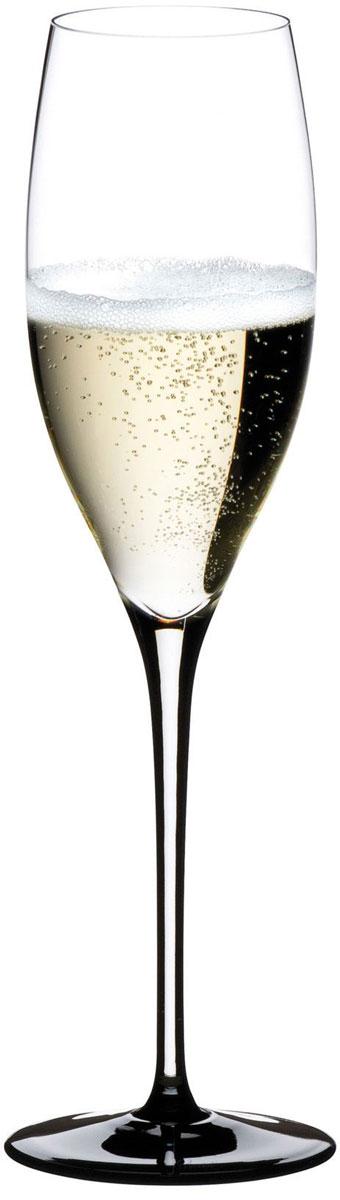 Фужер для шампанского Riedel Sommeliers Black Tie. Vintage Champagne, цвет: прозрачный, черный, 330 мл4100/28
