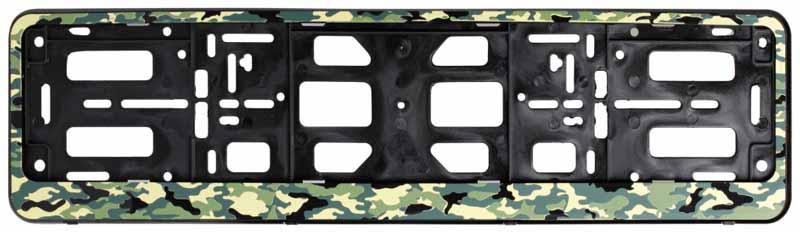 Рамка под номерной знак Airline Лето, цвет: камуфляжAFC-09Рамка Airline Лето, предназначенная для номерного знака, является не только необходимым элементом корпуса автомобиля, но и стильным аксессуаром. Она изготовлена из особо прочного морозоустойчивого полипропилена, который не подвержен резким перепадам температур и легко очищается от загрязнений. Рамка имеет стандартный размер под номерной знак, оригинальное оформление и конструктив в виде двусоставной рамки-книжки.Преимущества: - Морозостойкий материал; - Простая установка; - Российско-европейский размер; - Соответствует требованиям ГИБДД.