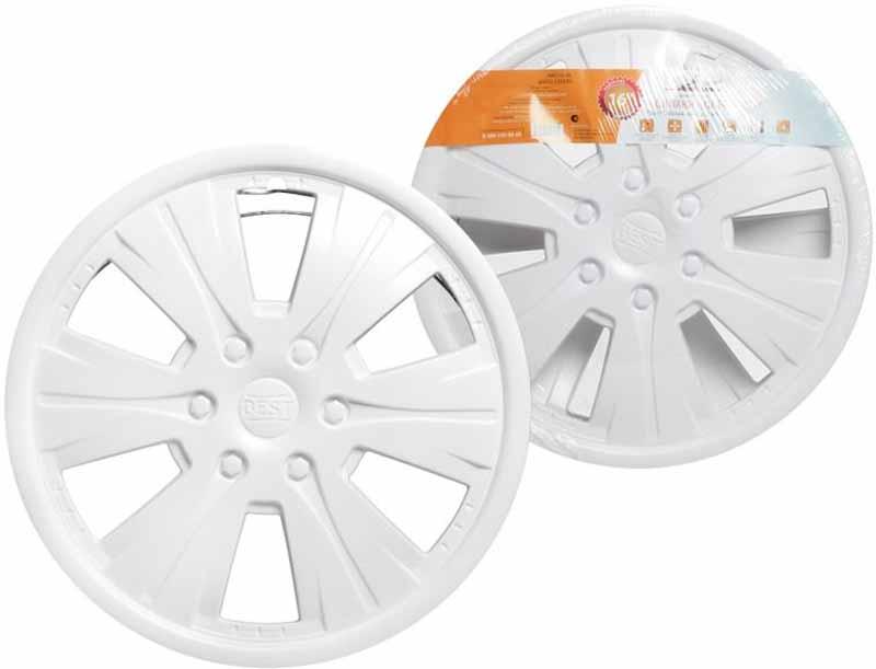 Колпаки колесные Airline Бест, цвет: белый, 16, 2 шт декоративные колпаки на штампованные колеса 16