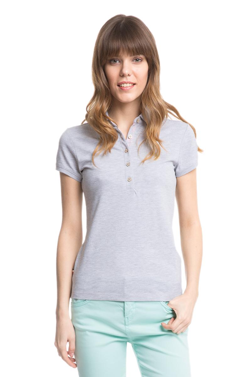 Поло женское U.S. Polo Assn., цвет: серый. G082SZ0110RP01IY05-011. Размер XXS (40)G082SZ0110RP01IY05-011Стильная футболка-поло с короткими рукавами и отложным воротником выполнена из натурального эластичного хлопка. На груди модель застегивается на пуговицы.