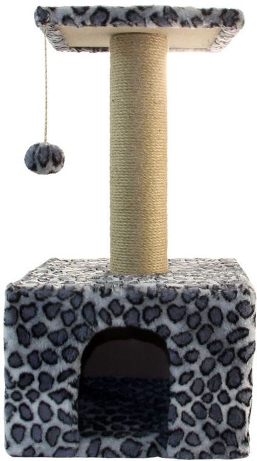 Игровой комплекс  Гамма  для кошек, квадратный, цвет: серый, черный, 35 х 35 х 77 см - Когтеточки и игровые комплексы