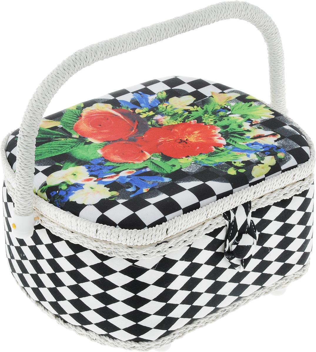 Шкатулка для рукоделия Bestex Букет, 23 х 18,5 х 13 см шкатулка для рукоделия bestex цветы 23 х 18 х 12 см