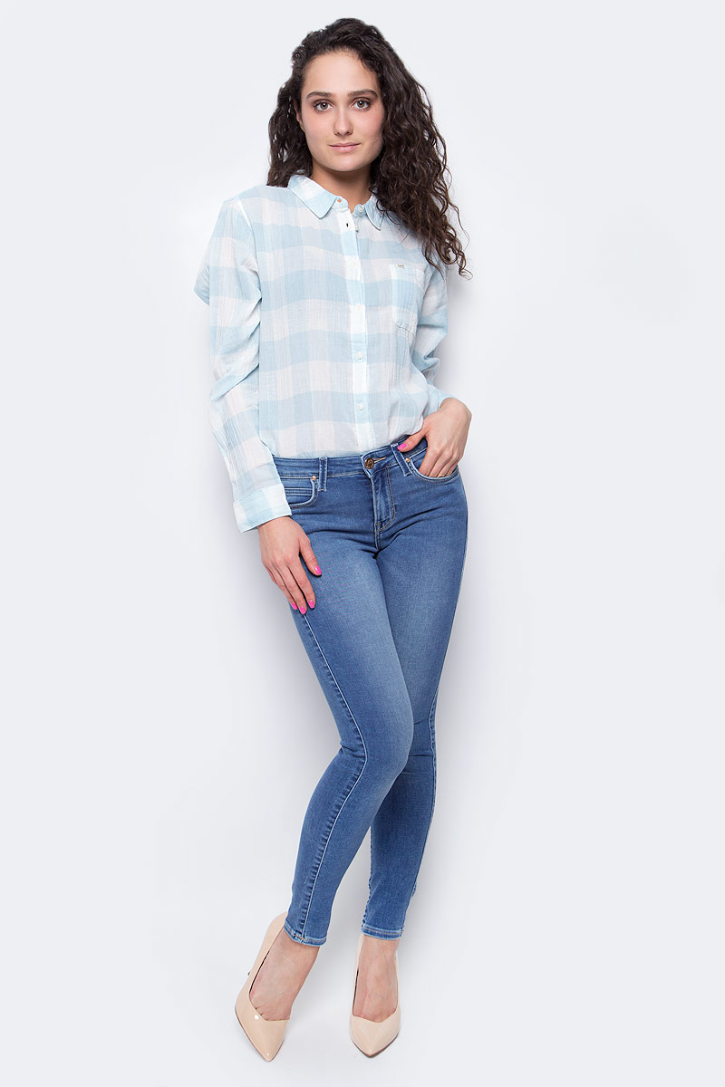 Джинсы женские Lee Jodee, цвет: синий. L529AYNC. Размер 26-31 (42-31) женские джинсы lee