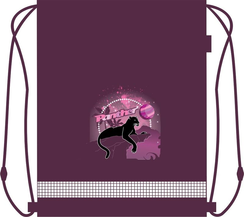 MagTaller Сумка для сменной обуви Panther31216-63Сумка для сменной обуви MagTaller Panther идеально подойдет как для хранения, так и для переноски сменной обуви и одежды. Сумка выполнена из высококачественного полиэстера и состоит из одного вместительного отделения, закрывающегося на затягивающийся шнурок. Шнурки фиксируются в нижней части сумки, благодаря чему ее можно носить за спиной, как рюкзак. br>Сумка оформлена красочным изображением пантеры на фоне пальм и звезд.С такой яркой сумкой носить сменную одежду и обувь будет легко и приятно!