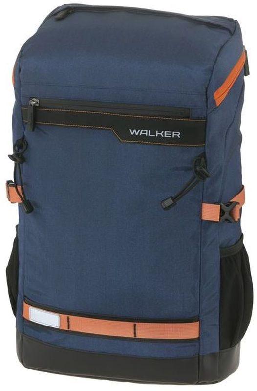 Walker Рюкзак школьный Ray Hype Blue42146/70Рюкзак Ray Hype Blue выполнен из прочного износостойкого материала высокого качества с влагоотталкивающей пропиткой и имеет объем 25 литров. Рюкзак оснащен разделители в главном отделении и отделением для ноутбука. Удобство носки обеспечивают эргономичные регулируемые лямки из вентилируемого материала, ортопедическая спинка, грудная стяжка, а светоотражающие элементы обезопасят на дороге в темное время суток. Рюкзак имеет один вместительный передний карман на молнии, карман на клапане, два боковых кармана на резиночке и удобную ручку для переноски сверху.