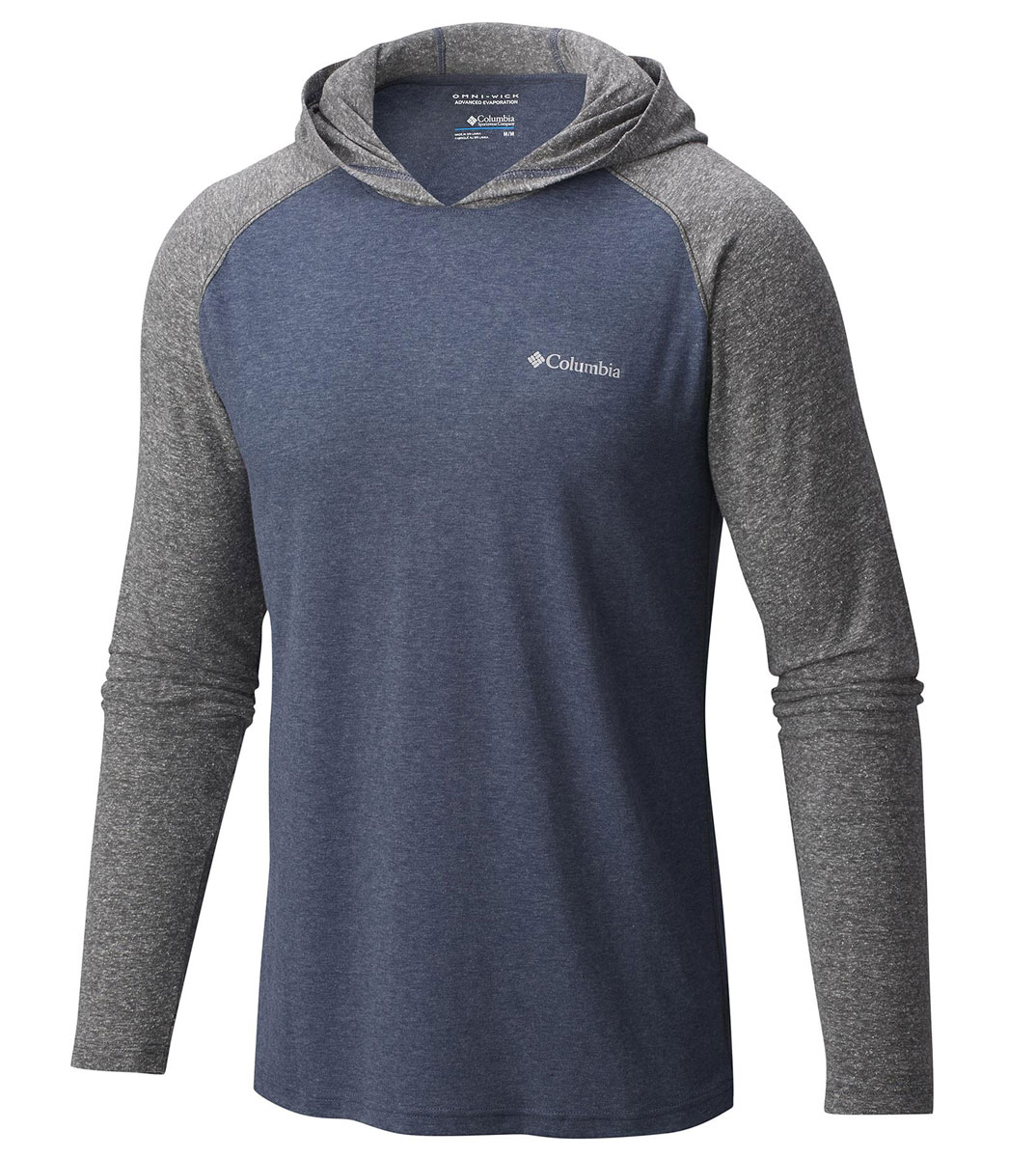 Худи мужское Columbia Trail Shaker Mens Hoody, цвет: темно-синий, серый. 1654301-492. Размер S (44/46) columbia sportswear women s saturday trail shorts