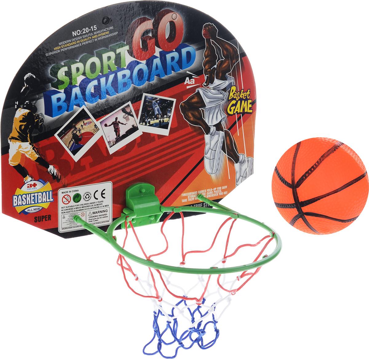 Набор для игры в баскетбол Torres TX1310328262068Набор для игры в баскетбол Torres TX13103, выполненный из ПВХ, текстиля и картона, состоит из корзины с сеткой и щитом, маленького резинового мячика, выполненного в виде баскетбольного и двух двусторонних клейких лент. Такой набор привлечет внимание каждого ребенка и станет отличным подарком юному любителю игр.Набор Torres TX13103 способствует развитию внимательности, ловкости и усидчивости, а также развивает любовь к спортивным играм.Размер щита: 38 х 27 см.Диаметр мяча: 10 см . Уважаемые клиенты!Обращаем ваше внимание на возможные изменения в цвете некоторых элементов набора. Поставка осуществляется в зависимости от наличия на складе.