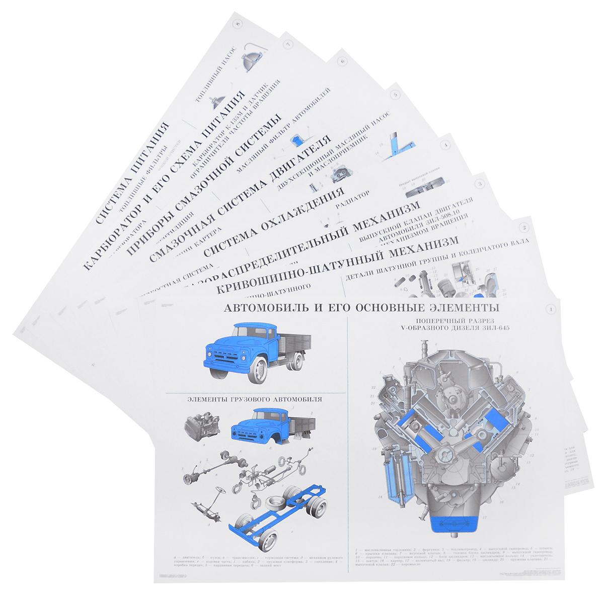 А. П. Пехальский Устройство автомобилей (набор из 28 плакатов) куплю двигатель бу на газель и ваз