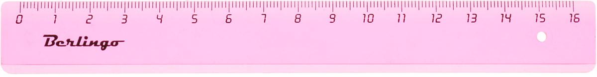 Berlingo Линейка цвет прозрачный розовый 16 смPR_00116_розовыйЛинейка Berlingo выполнена из полупрозрачного пластика розового цвета. Длина линейки - 16 см.Линейка - это незаменимый атрибут, необходимый школьнику или студенту, упрощающий измерение и обеспечивающий ровность проводимых линий.