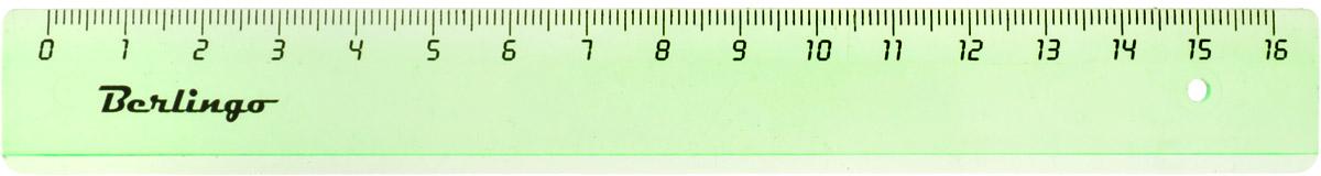 Berlingo Линейка цвет прозрачный зеленый 16 смPR_00116_зеленыйЛинейка Berlingo выполнена из полупрозрачного пластика зеленого цвета. Длина линейки - 16 см.Линейка - это незаменимый атрибут, необходимый школьнику или студенту, упрощающий измерение и обеспечивающий ровность проводимых линий.