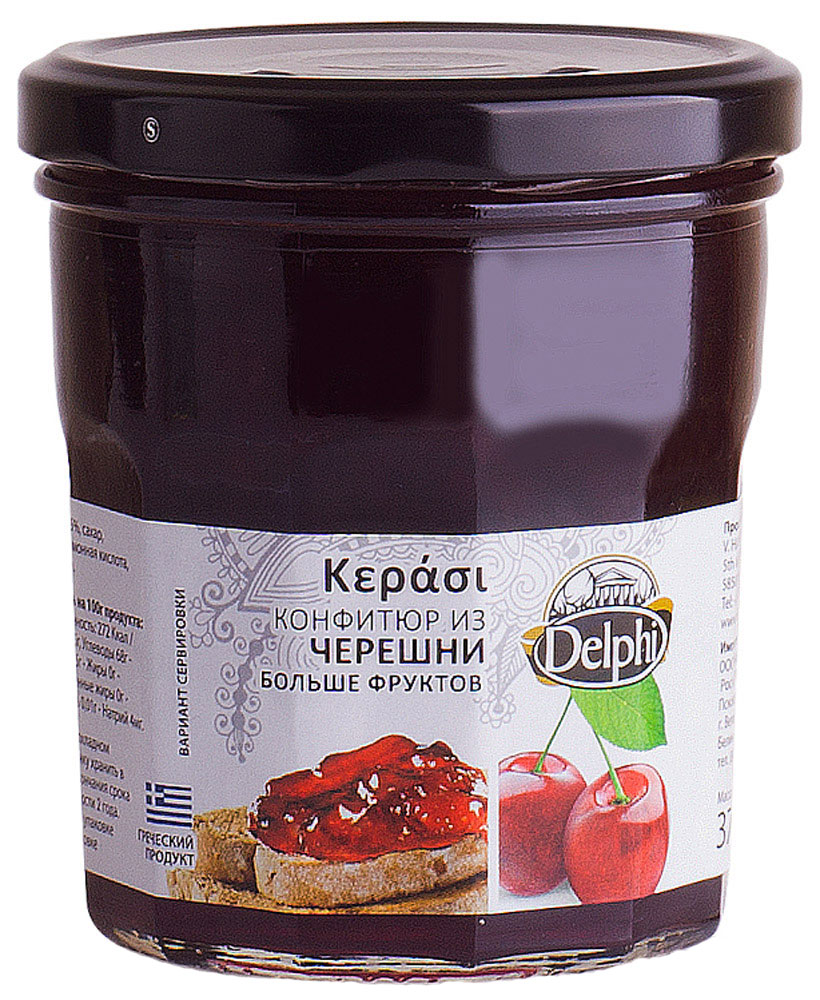 Delphi Конфитюр из черешни, 370 г valio сыр российский 50