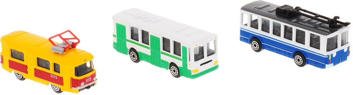 ТехноПарк Набор машинок Трамвай автобус и троллейбус технопарк трамвай