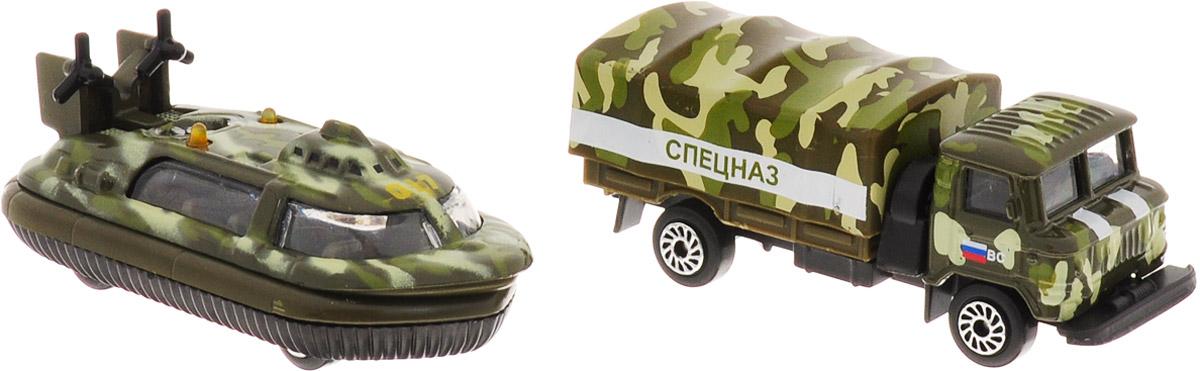ТехноПарк Грузовик ГАЗ и лодка на воздушной подушке технопарк технопарк спецназ