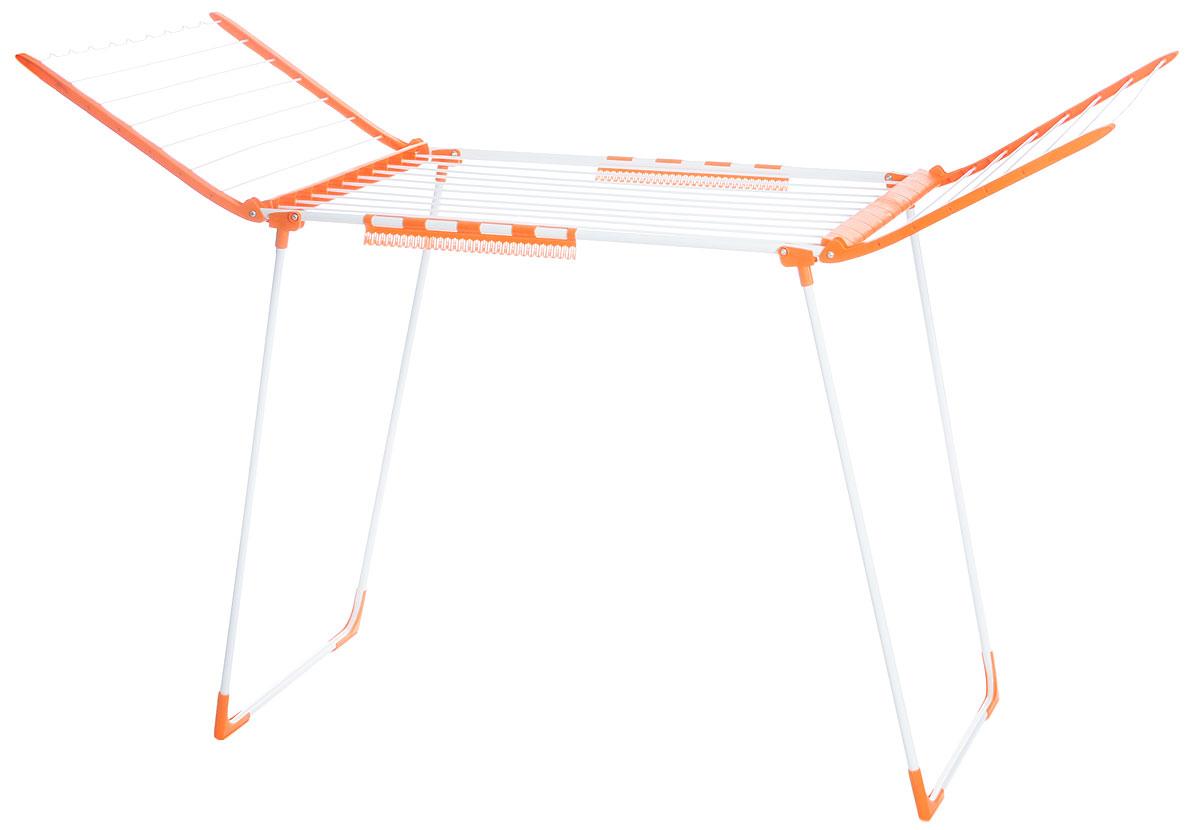Сушилка для белья VANI, 174 х 65 х 100 смV03-010CНапольная раскладывающаяся сушилка для белья VANI оснащена распашными створками для сушки одежды во всю длину. Волнистая перекладина обеспечивает фиксацию плечиков. Есть дополнительный держатель для маленьких вещей (носки, платки). Сушилка долговечна, выполнена из высококачественной стали и прочного пластика. Ее можно использовать на балконе или в комнате и она не займет много места.Размер в сложенном виде: 100 х 65 х 7,5 см.Размер в разложенном виде: 174 х 65 х 100 см.