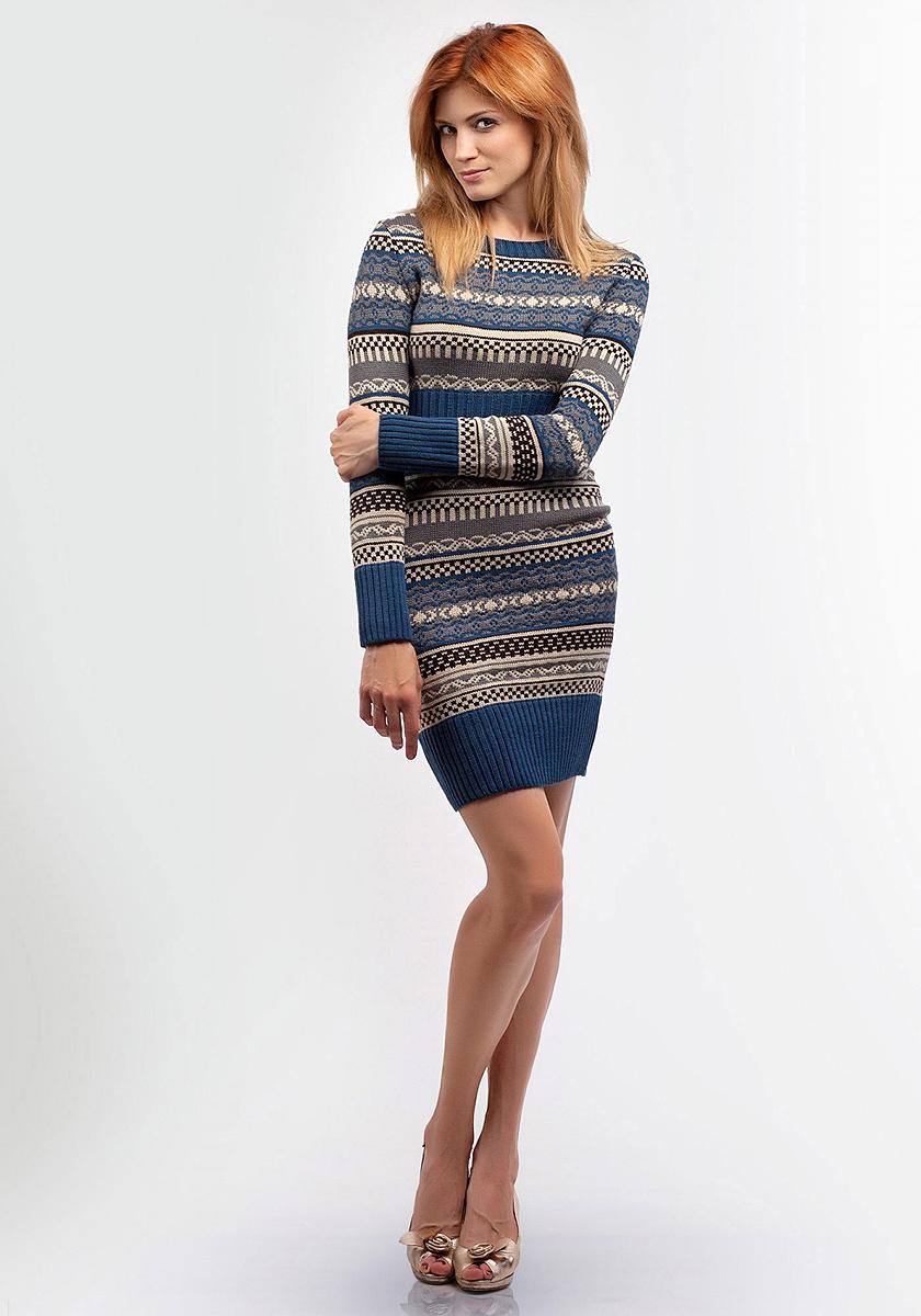Платье Happychoice, цвет: синий. 2081. Размер 442081
