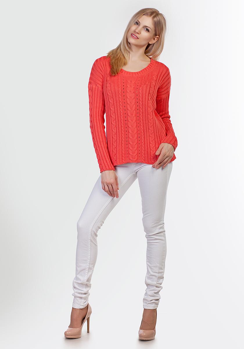 Джемпер женский Happychoice, цвет: коралловый. 3391. Размер 423391