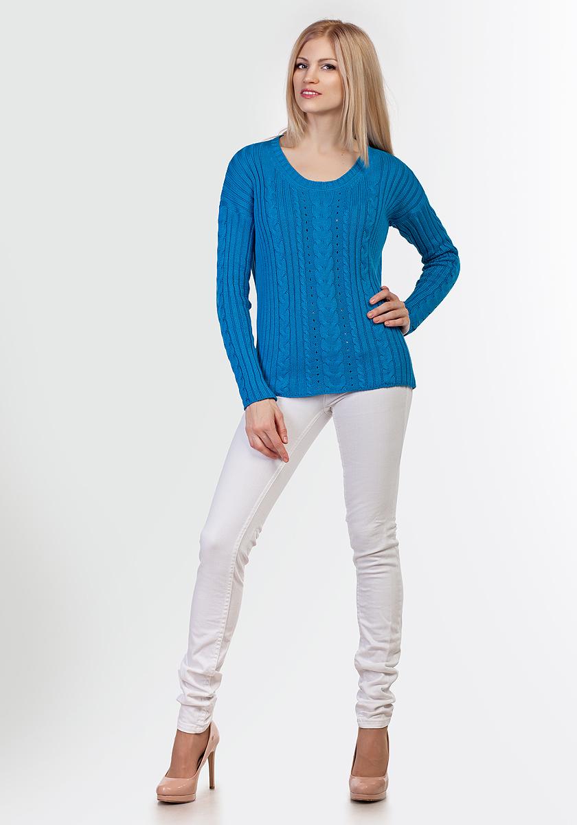 Джемпер женский Happychoice, цвет: синий. 3391. Размер 483391
