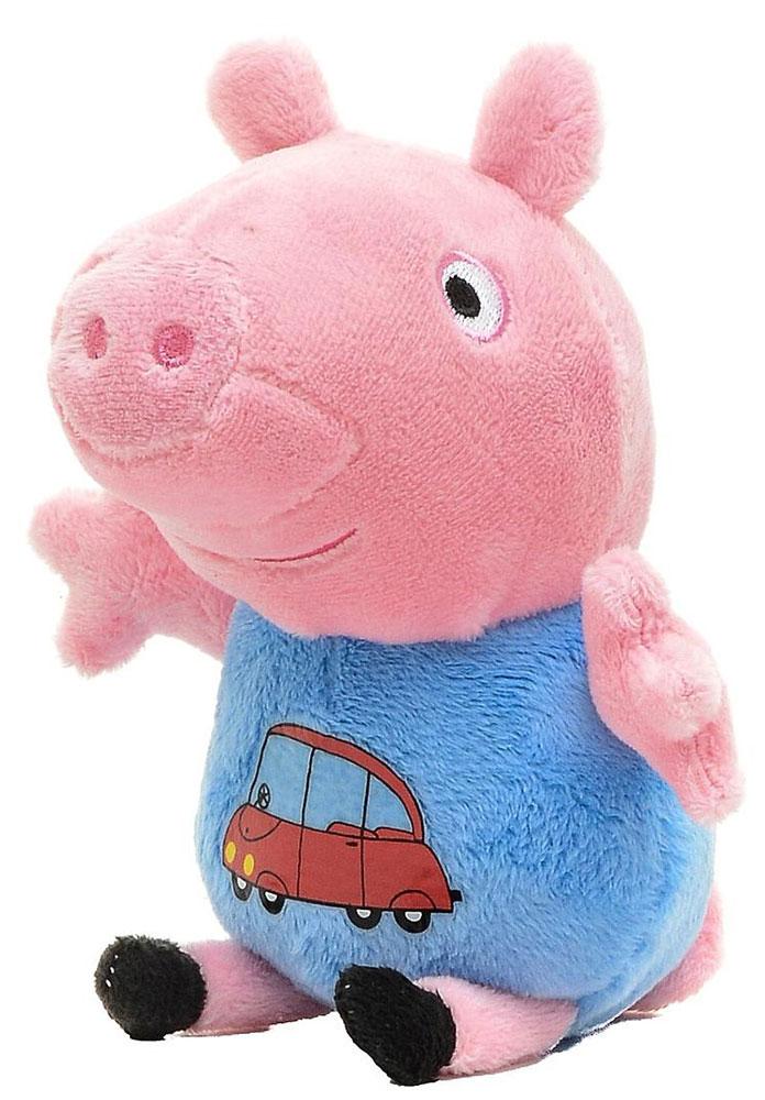 Peppa Pig Мягкая игрушка Джордж с машинкой 18 см мягкая игрушка peppa pig джордж с машинкой свинка розовый текстиль 18 см 29620