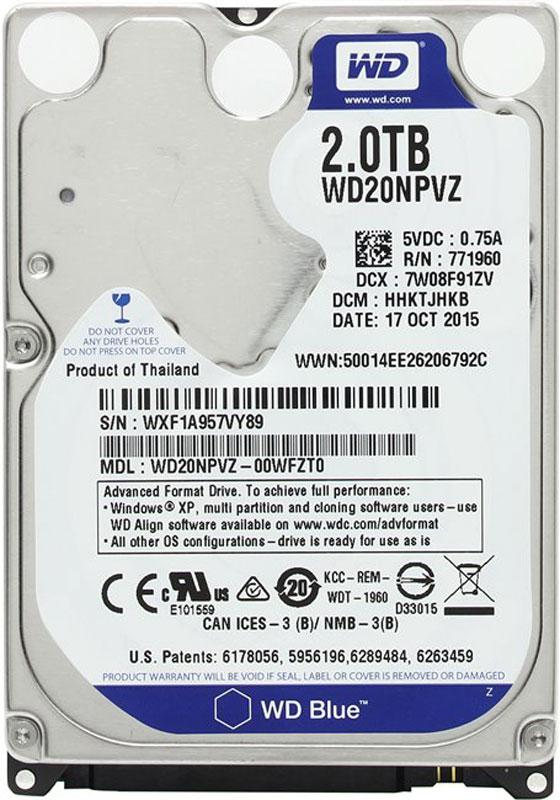 WD Blue 2TB внутренний жесткий диск (WD20NPVZ) - Комплектующие для компьютера