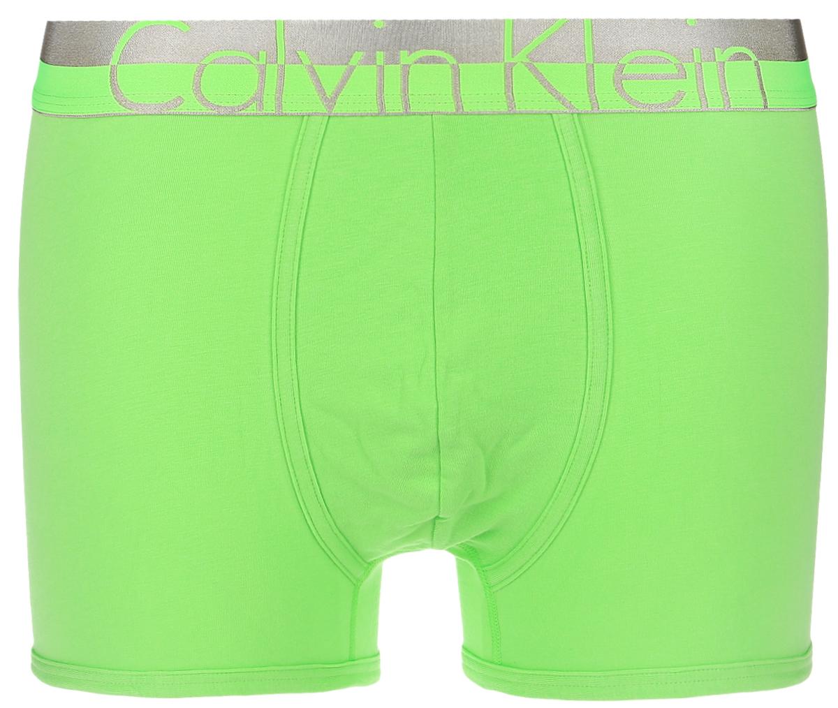 Трусы-боксеры мужские Calvin Klein Underwear, цвет: лайм. NB1092A_5PG. Размер S (46) трусы боксеры мужские calvin klein underwear цвет голубой черный nb1042a 5hs размер s 46