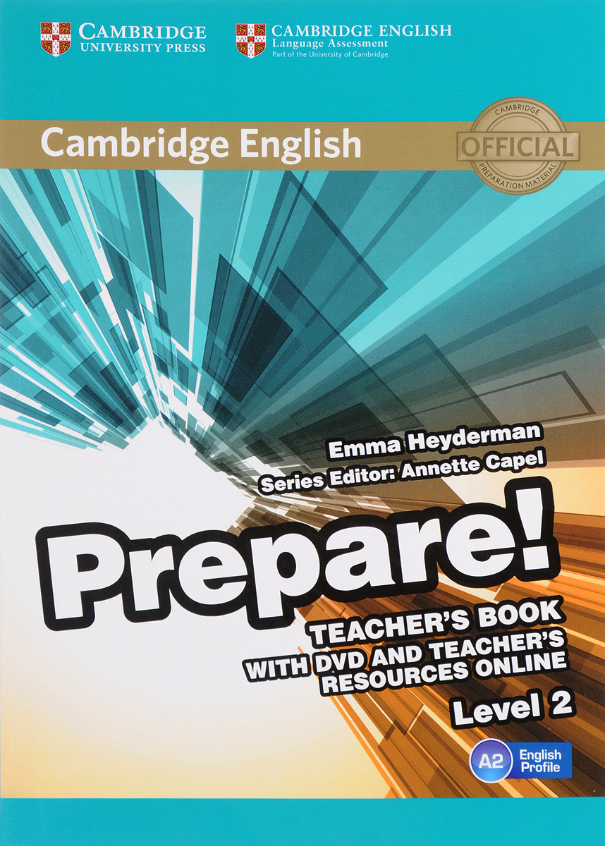 Cambridge English Prepare! Level 2 A2: Teacher's Book (+ DVD) free shipping hot selling 1m pcs led aluminum profile for led strips with milky or clear cover and end caps clips
