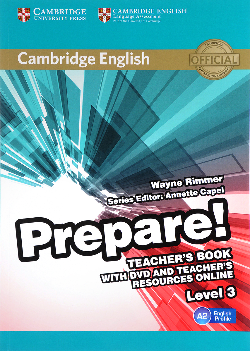 Cambridge English Prepare! Level 3 A2: Teacher's Book (+ DVD) кеды exquily exquily ex003awtrk33