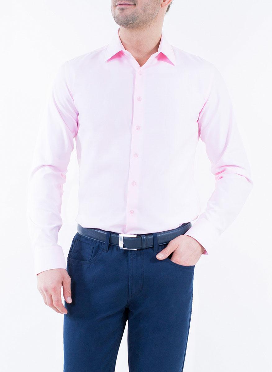Рубашка мужская Greg Horman, цвет: светло-фиолетовый. 2-171-20-1370. Размер 44 (54)2-171-20-1370Мужская рубашка Greg Horman выполнена из хлопка с добавлением полиэстера. Модель полуприталенного силуэта с отложным воротником и длинными рукавами застегивается по всей длине на пуговицы, украшенные символикой бренда. Манжеты рукавов также застегиваются на пуговицы. Удобный крой, выверенный силуэт и безупречное исполнение делает эту рубашку уникальным решением для стильных образов и незаменимым атрибутом мужского гардероба.