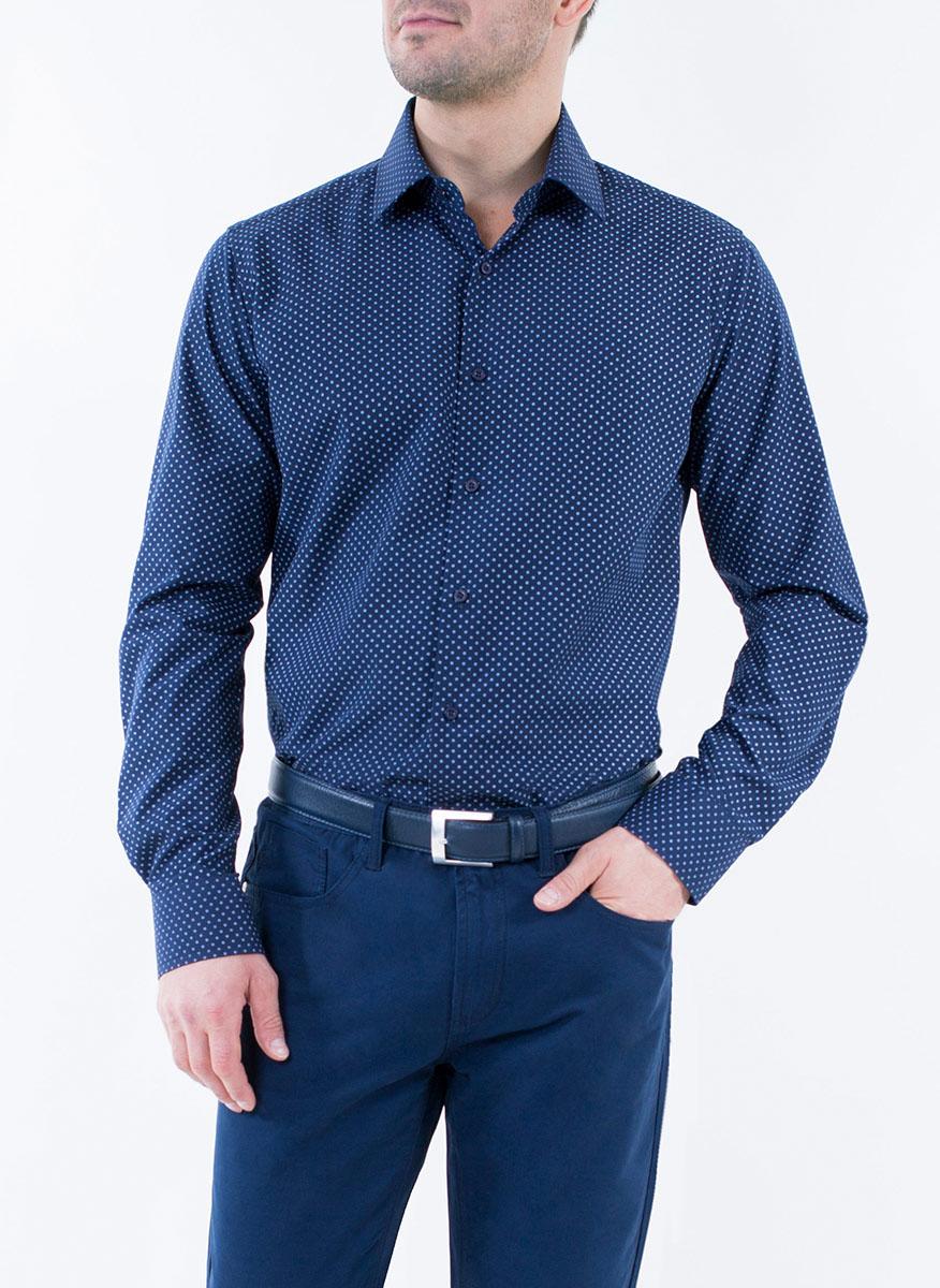Рубашка мужская Greg Horman, цвет: темно-синий. 2-171-20-1392. Размер 40 (48) брюки greg horman цвет бежевый